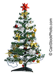 decorated Christmas tree - homemade decorated Christmas tree...