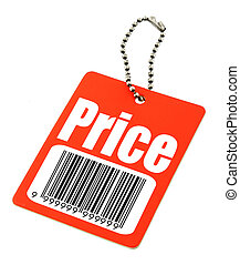 price tag with fake bar code
