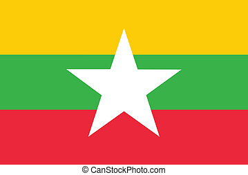 Flag of Burma Myanmar vector illustration