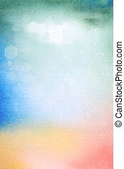 Abstract textured background: green, blue, yellow, and red...