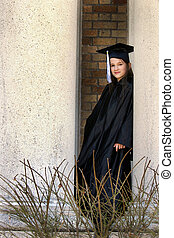 Middle School Graduate - A middle school graduate in a black...