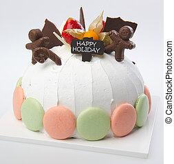 cake, Ice-cream cake on background - cake, Ice-cream cake on...