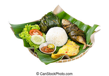 Indonesian special fish dish, Ikan, on background