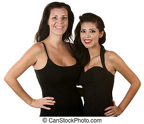 Two Hispanic Women Smiling
