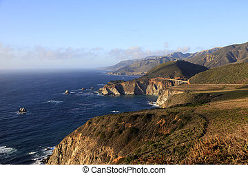 Big Sur California Coast - Big Sur and Bixby Bridge on...