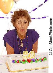 celebrando, 80, anos