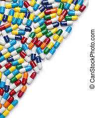 Fifty-Fifty Pills - A border made out of colorful pills