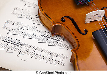 Old violin bacground