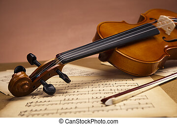 Old violin background