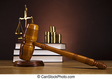 Justice Scale and Gavel - Law and justice concept in studio