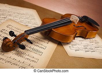 Old violin background