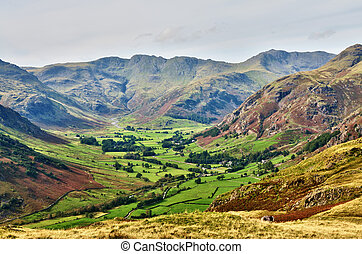 Langdale, with Bowfell and Crinkle Crags - Langdale, a...