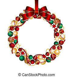 Christmas wreath decoration from Christmas Balls Vector...