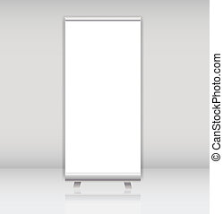 Blank roll up banner display template for designers vector...