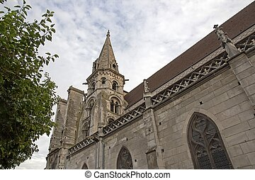 Church Saint Eusebe Auxerre - Church Saint Eusebe 12, 13 th...