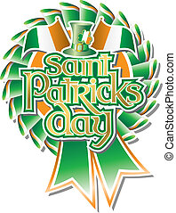St Pats Day Rosette