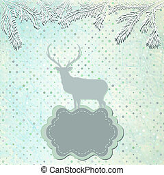 Christmas Invitation card template. EPS 8