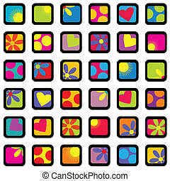 Happy wrapping paper design. Background for kids