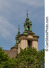 Cathedral in old town of Cracow