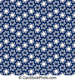 Seamless muslim pattern - Muslim blue-white seamless...