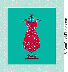retro 60's dress with clothes hanger
