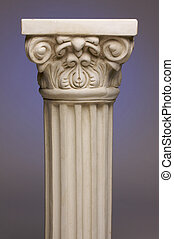 Ancient Column Pillar Replica on a Blue Gradation...