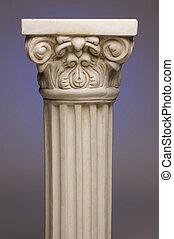 Ancient Column Pillar Replica on a Blue Gradation...