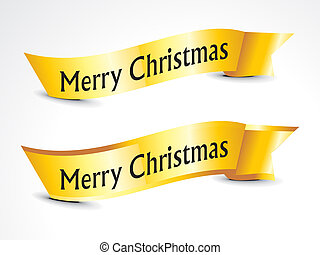 abstract golden christmas ribbons