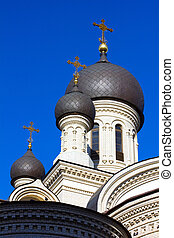 Dome Valaam monastery in St Petersburg, Russia