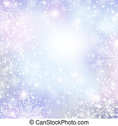 Abstract Winter background Christmas abstract bokeh