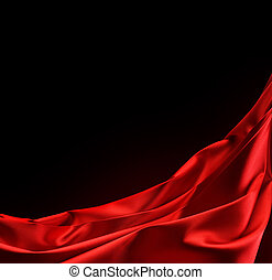 Red Satin Border Isolated On Black