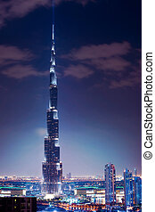 DUBAI, UAE. - NOVEMBER 29 : Burj Dubai - tallest building in the world, at 828m. on November 29, 2011 in Dubai, UAE.