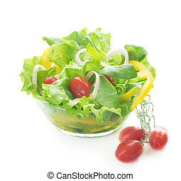 Healthy Salad Isolated On White