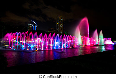 Dancing Fountain - Dancing water and lights in Rizal Park...
