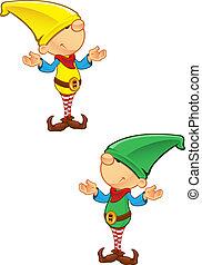 Elf Mascot - Confused