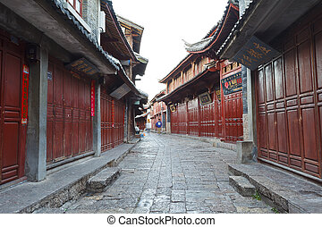 Lijiang old town at morning, China - CHINA - OCTOBER 25,...