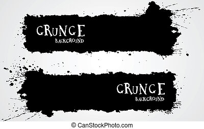 Grunge backgrounds - Grunge banner backgrounds in black...