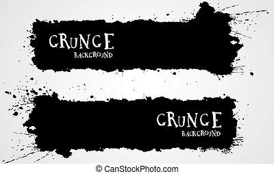 Grunge backgrounds - Grunge banner backgrounds in black...