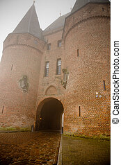 old defensive gate - Old defensive gate at the city Kampen...