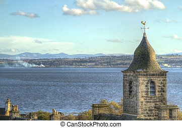 Church Steeple - Church steeple in Culross Scotland on the...