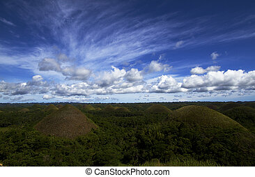 Chocolate Hills in Bohol - Chocolate Hills on a beautiful...