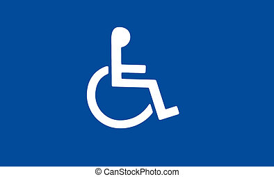 Handicap symbol - white handicap or wheelchair accessible...