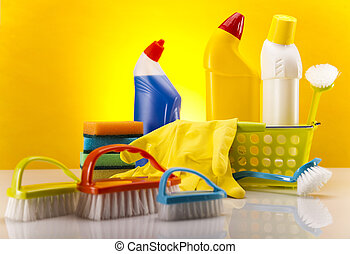 Set of cleaning products - Variety of cleaning products....