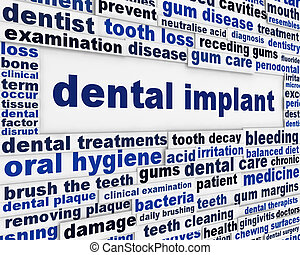 Dental implant medical message background
