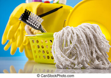 House cleaning product - Variety of cleaning products....