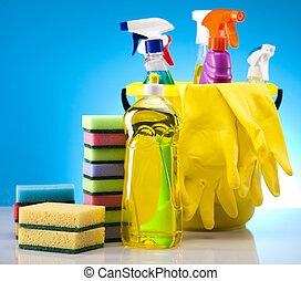 Assorted cleaning products - Variety of cleaning products....