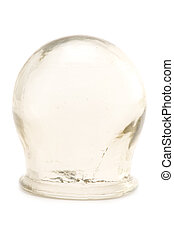 cupping-glass - object on white medical tool cupping glass