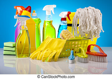 House cleaning product - Group of assorted cleaning