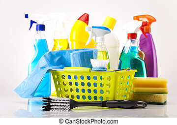 Cleaning supplies - Group of assorted cleaning