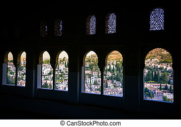 View from the Alhambra on Granada